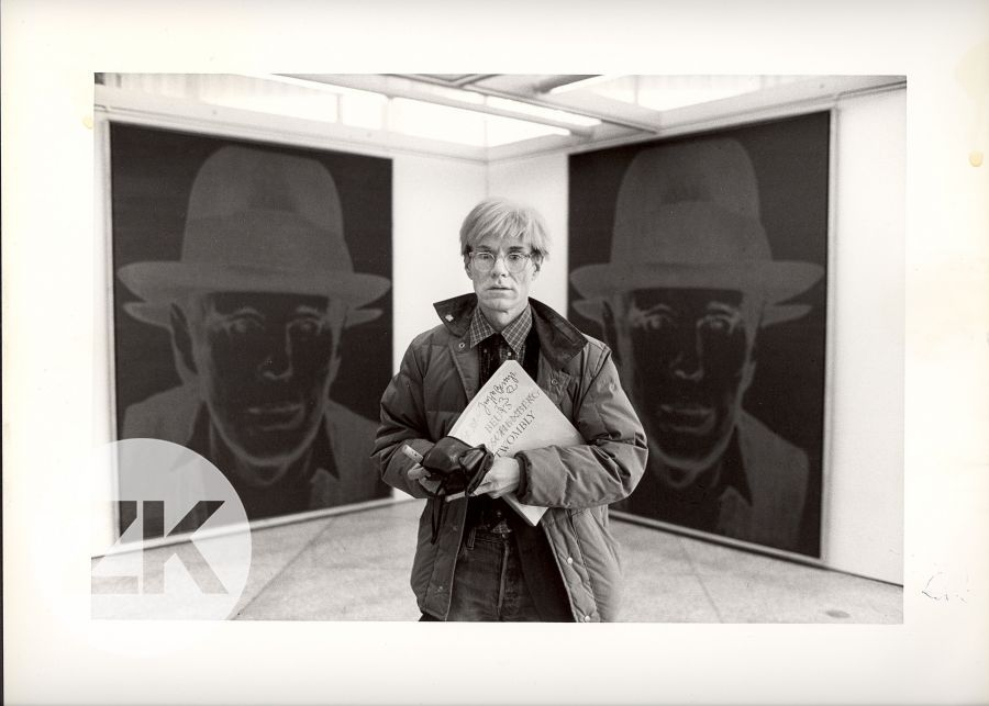 WITH JOSEPH BEUYS PAINTING AT THE BERLIN NATIONAL GALLERY - 1982