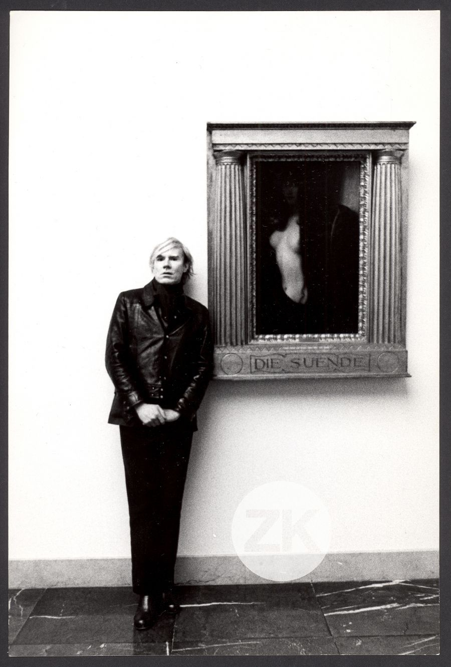 WITH FRANZ STUCK PAINTING AT MUNICH NEUE PINAKOTHEK - 1971