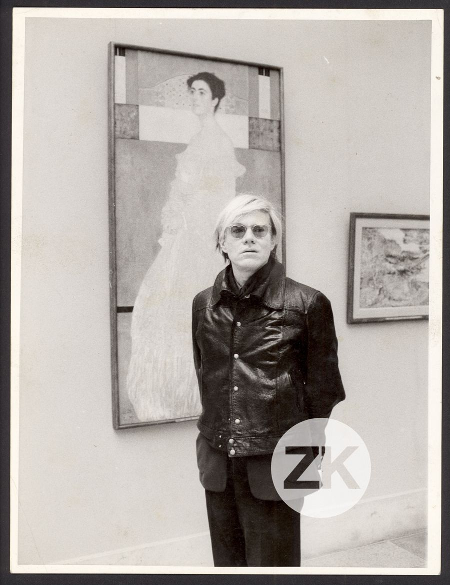 WITH GUSTAV KLIMT PAINTING AT MUNICH NEUE PINAKOTHEK - 1971