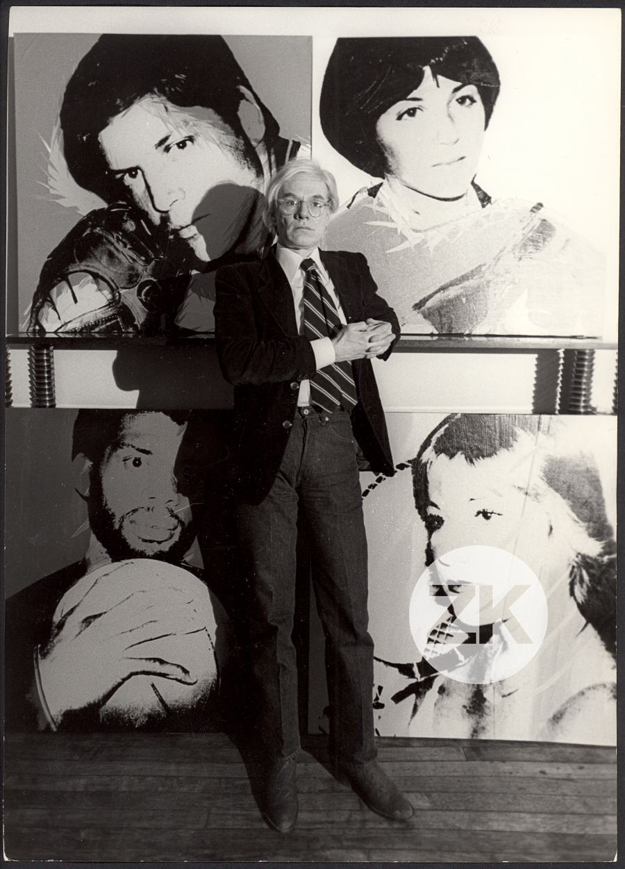 "WITH ""THE ATHLETES\"" PAINTINGS, AT OKLAHOMA CITY MUSEUM OF ART - 1978"