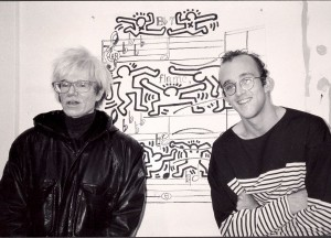 WITH KEITH HARING, NEW YORK - 1985