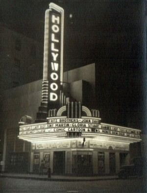 Hollywood Theater, USA - 1937