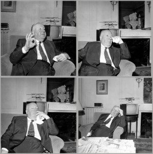 1 - ALFRED HITCHCOCK (4 portraits) 1959